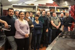 Silvio Galizzi e i ristoratori del Menu di Vino in Villa 2
