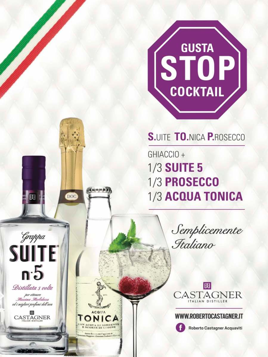 S.TO.P. (Suite, Tonica e Prosecco)  il nuovo cocktail dell'estate 2016