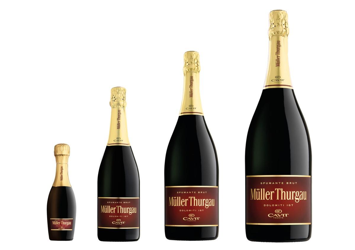 Müller Thurgau spumante: un colore inconfondibile, in tante forme!