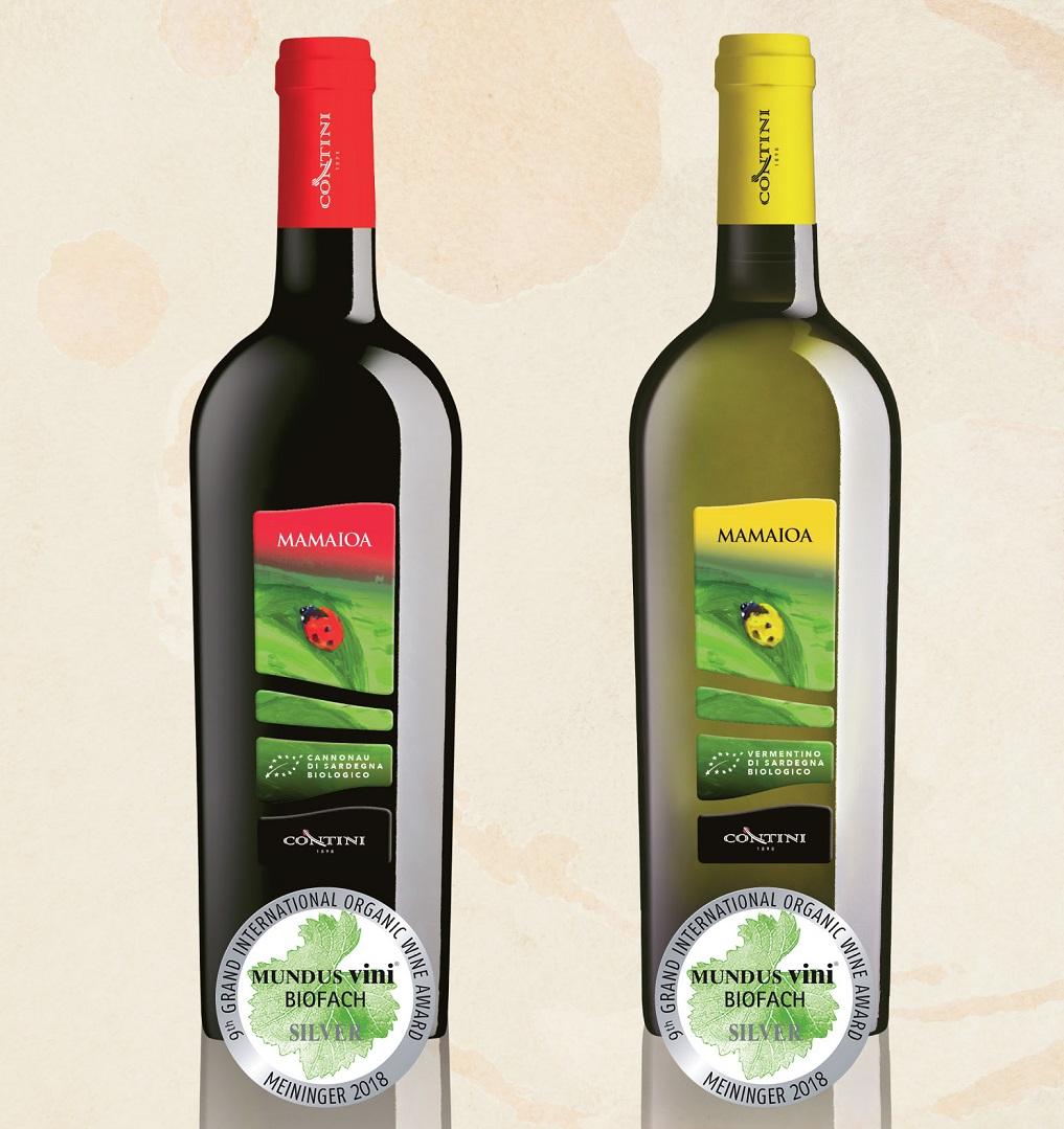 Mamaioa Bianco e Mamaioa Rosso Medaglia d'Argento al Mundus Vini Biofach