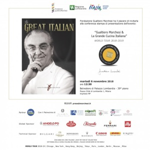 Gualtiero Marchesi & La Grande Cucina Italiana – WORLD TOUR 2018-2019