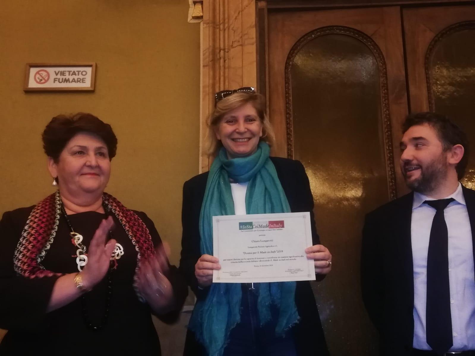 VINO: A CHIARA LUNGAROTTI IL PREMIO DONNE PER IL MADE IN ITALY
