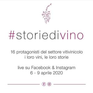 Incontro con #storiedivino 15 produttori Italiani live su Facebook eInstagram.